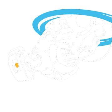 GLaDOS white silhouette by Preyn