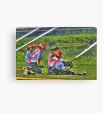 """A Not So """"Dry"""" Run at the Westerlo Fire Department Canvas Print"""