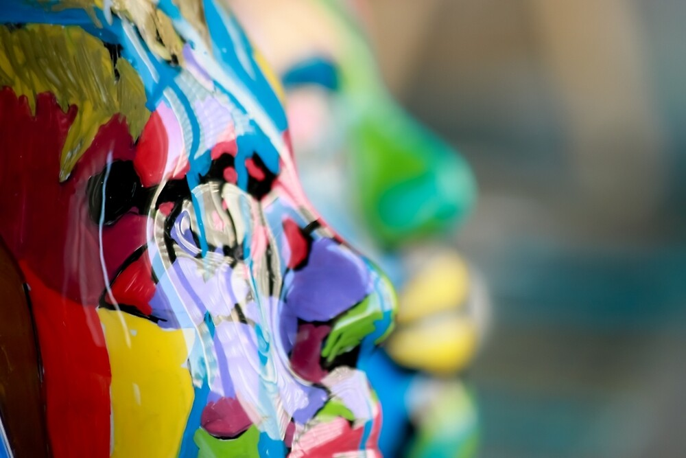 Painted Masks by Chicago Artist Gary Bradley by Gary Bradley
