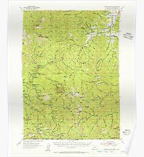USGS Topo Map Oregon Oregon Caves 282771 1954 62500 Poster