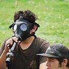 Gas Mask Bong by FloraDiabla