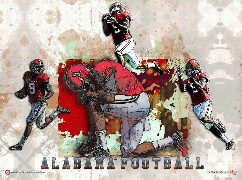Alabama Football Poster by TeamSpiritStore