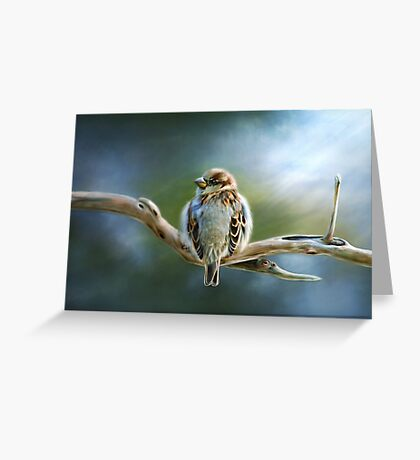 English-House Sparrow Greeting Card