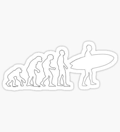 Surf evolution (white) Sticker