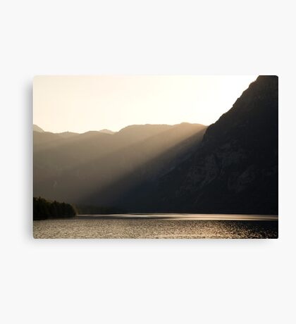 Alpine rays of light Canvas Print