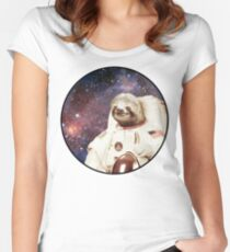 Astro Sloth Women's Fitted Scoop T-Shirt