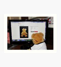 Cyber Teddy Art Print