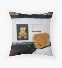 Cyber Teddy Throw Pillow