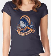 Our Lady Of Science Women's Fitted Scoop T-Shirt