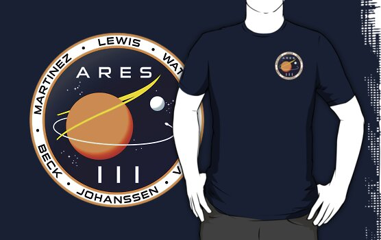 """Ares 3 mission to Mars - The Martian (Badge)"" T-Shirts ..."