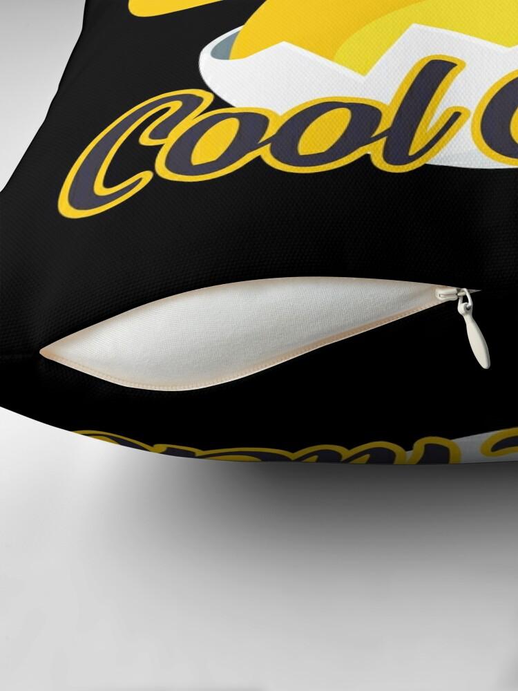 Alternate view of Cool Chick Emoji Meme Floor Pillow