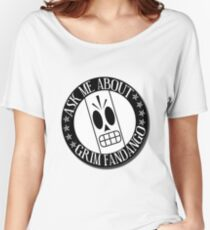 Ask Me About Grim Fandango T-Shirt Women's Relaxed Fit T-Shirt