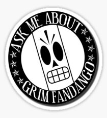 Ask Me About Grim Fandango T-Shirt Sticker