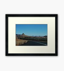 the black ribbon.  free state, south africa Framed Print