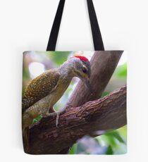 Grey Woodpecker Tote Bag