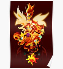 sunset shimmer posters redbubble