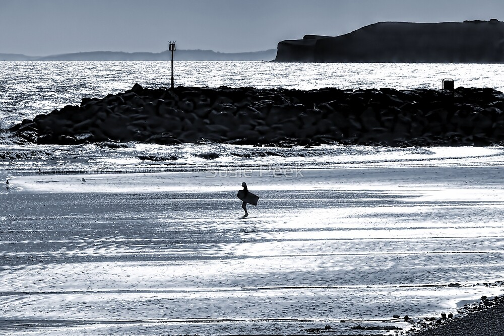 Lone Surfer - Sidmouth by Susie Peek