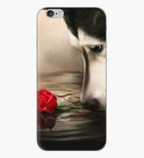 Dog with Rose  iPhone Case