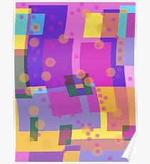 Blocks and Dots Poster