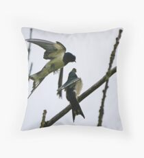Poor butterfly Throw Pillow