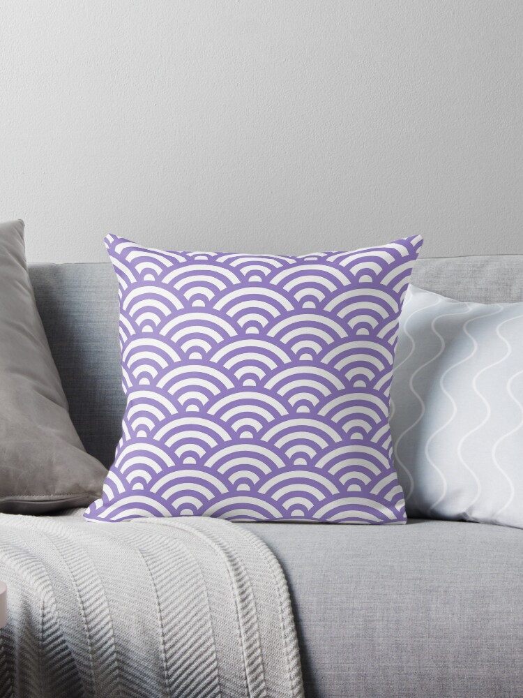 Lavander Japanese Inspired Waves Shell Pattern by ImageNugget
