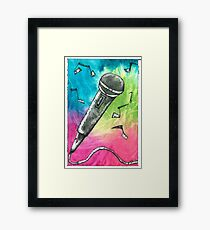 Microphone Notes Framed Print