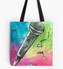 Microphone Notes Tote Bag