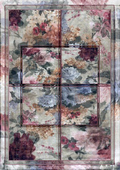 Patchwork Pink Window by Sarah Vernon