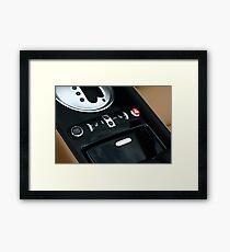 Bentley GTC - Shifter Console  Framed Print