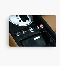 Bentley GTC - Shifter Console  Canvas Print
