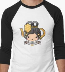 Oolong Oriental Beauty Teapot Men's Baseball ¾ T-Shirt