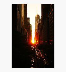 Manhattanhenge Sunset Midtown New York City Photographic Print