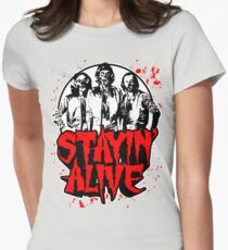 Stayin' Alive 2 (Zom-Bee Gees) Womens Fitted T-Shirt