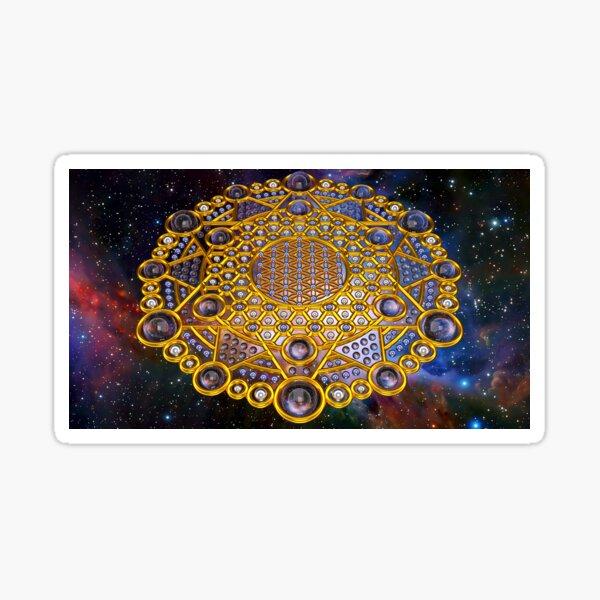 Flower of life Grid Healing Code Sticker