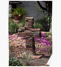 Brick Cross (San Diego Spanish Mission, California) Poster