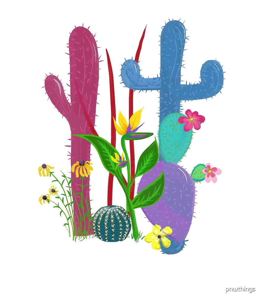 Desert Cactus Party  by Phern Wright