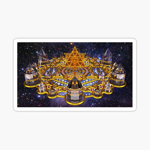 Pleiadian Lightcity Merkaba Stargate Sticker