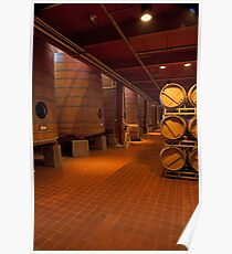 Red Wine Aging Vats (Robert Mondavi Winery, Napa Valley, California) Poster