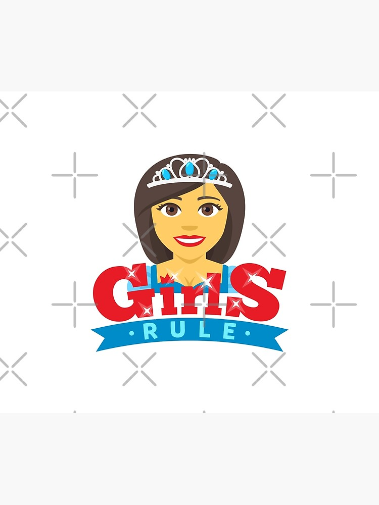 Queen Girls Rule Emoji Boss Babe Cartoon by el-patron