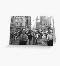 NYC rush! Greeting Card