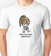 Martial Arts/Karate Girl - Front punch - Kick, Punch, Scream Unisex T-Shirt