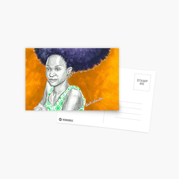 Afro Halo Purple and Yellow (card) Postcard
