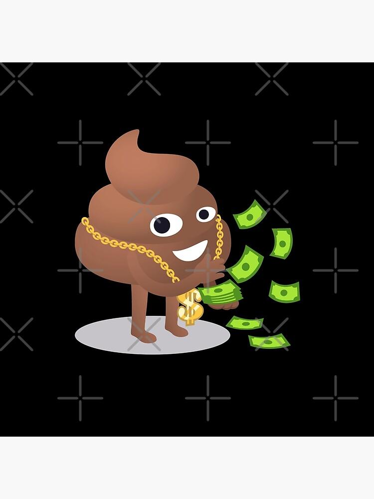 Cash Money Emoji Poo with Golden Dollar Chain by el-patron