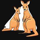 Cute Kangaroo Design by GrandpasTees