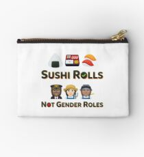 Love Sushi Rolls Emoji Not Gender Roles Zipper Pouch