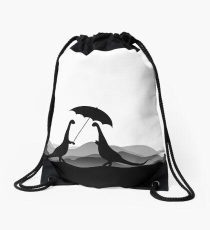 DINO LOVE UMBRELLA - Dinosaurs with Umbrella - Dino Collection Drawstring Bag