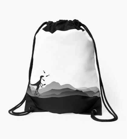 DINO CIRCUS - DINOSAUR AT THE CIRCUS - Dino collection Drawstring Bag