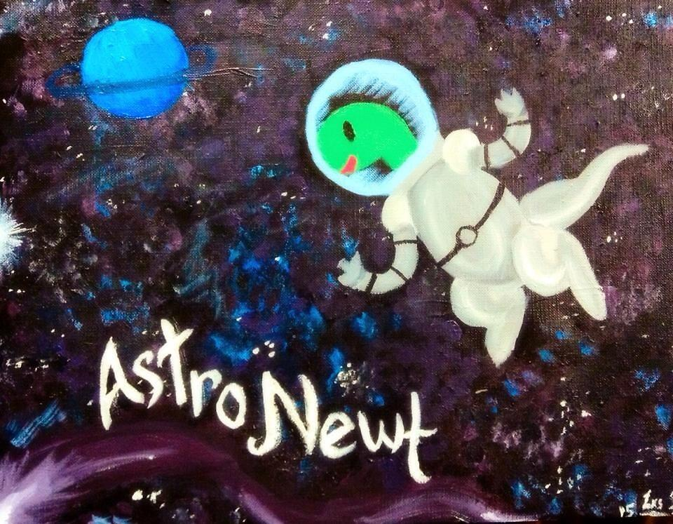 Astro Newt! by Lxsketch