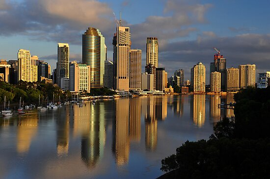 Brisbane River and City at dawn. Queensland, Australia. (11) by Ralph de Zilva