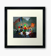 14 juillet: Liberty on the Barricades Framed Print